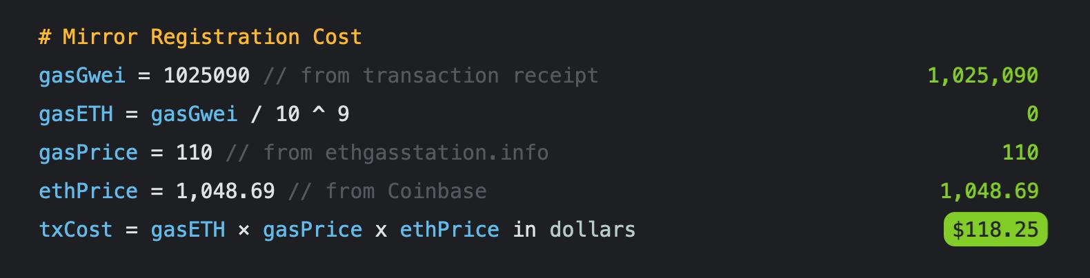 Current estimate around $120