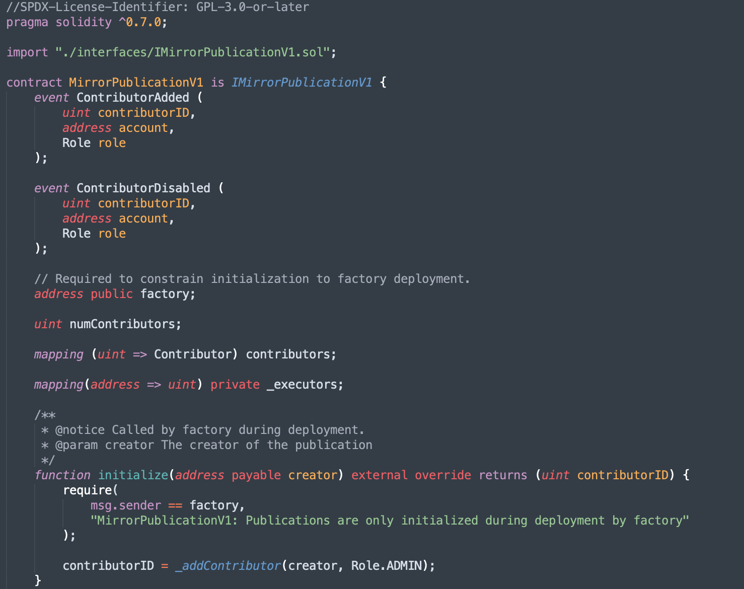 Playing with some Solidity code to make the Publication contract idea more tangible
